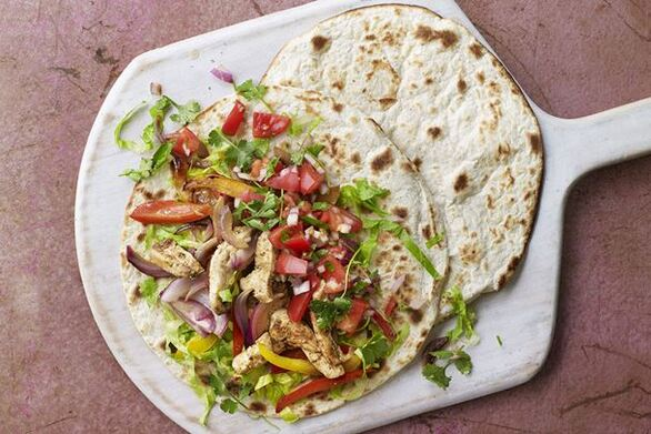 Fajitas με κοτόπουλο για μεξικάνικες βραδιές