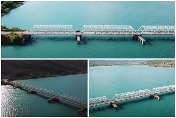 Η σιδερένια γέφυρα στην παλαιά Εθνική οδό Αγρινίου - Ιωαννίνων (video)