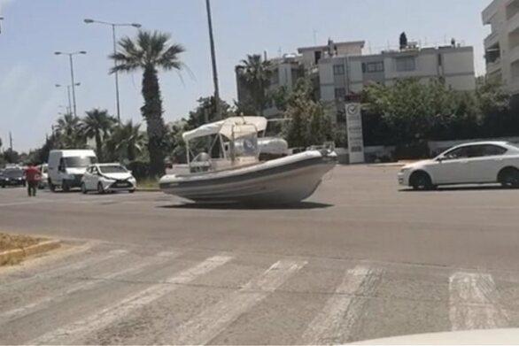 Λεωφόρος Βάρης - Κορωπίου: Του έφυγε το σκάφος από το τρέλειρ