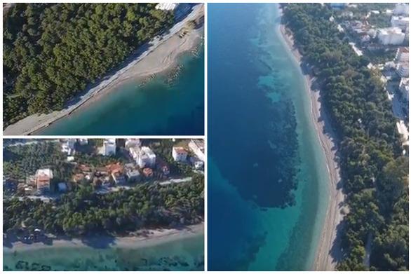 Αγναντεύοντας τα γαλαζοπράσινα νερά της Παραλίας Πευκιά στην Πελοπόννησο (video)