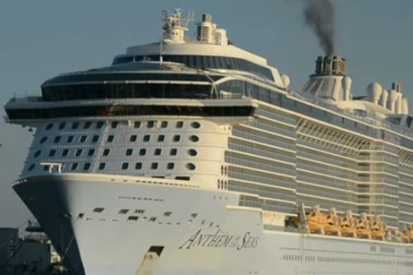 """Η αναχώρηση του """"Anthem of the Seas"""" από το λιμάνι του Πειραιά (video)"""
