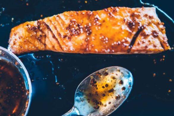 Συνταγή για ψητό σολομό με μέλι
