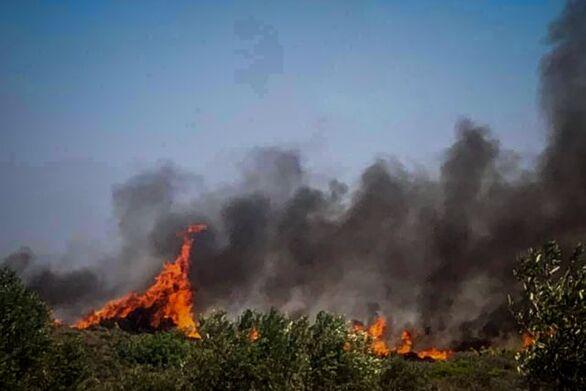 Ξέσπασε φωτιά στην Εφταλού Λέσβου
