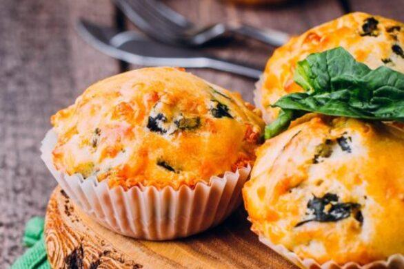 Συνταγή για muffins με λαχανικά