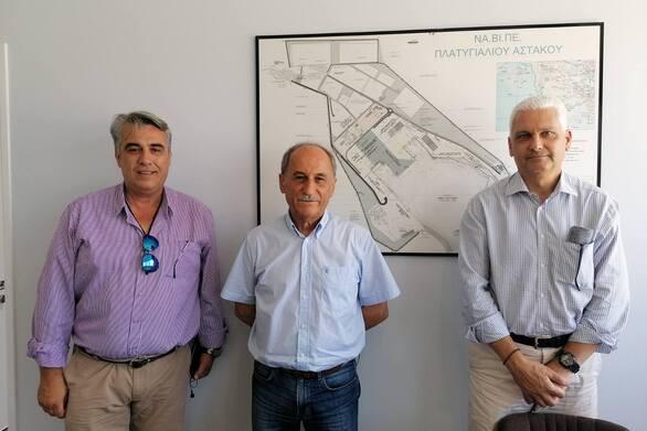 Ο Φωκιών Ζαΐμης επισκέφθηκε το λιμάνι του Αστακού