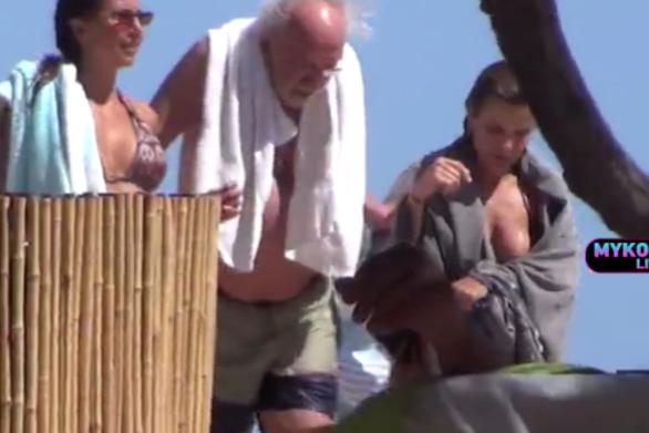 Διακοπές στη Μύκονο κάνει ο Αλέξανδρος Λυκουρέζος (video)