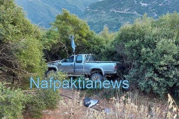 Τροχαίο στη Ναυπακτία: Αυτοκίνητο έπεσε σε χαράδρα (video)