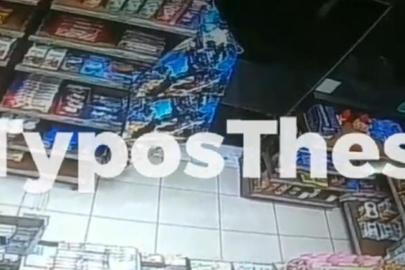 Βίντεο ντοκουμέντο από ένοπλη ληστεία σε κατάστημα στη Θεσσαλονίκη
