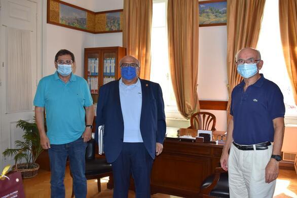Ο νέος πρύτανης του Πανεπιστημίου Πάτρας επισκέφθηκε τον Κώστα Πελετίδη