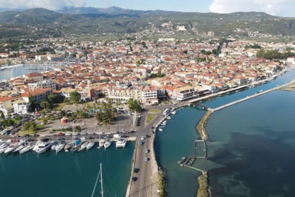 Η πόλη της Λευκάδας από ψηλά (video)