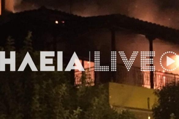 Λαστέικα Πύργου: Καταστράφηκε κατοικία από φωτιά (pics)