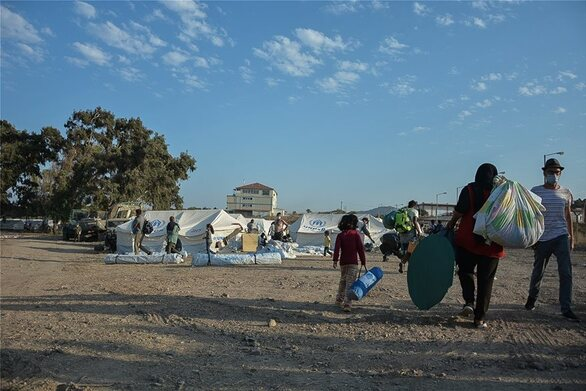 Λέσβος: Μπήκαν στο νέο καταυλισμό του Καρά Τεπέ οι πρώτοι μετανάστες
