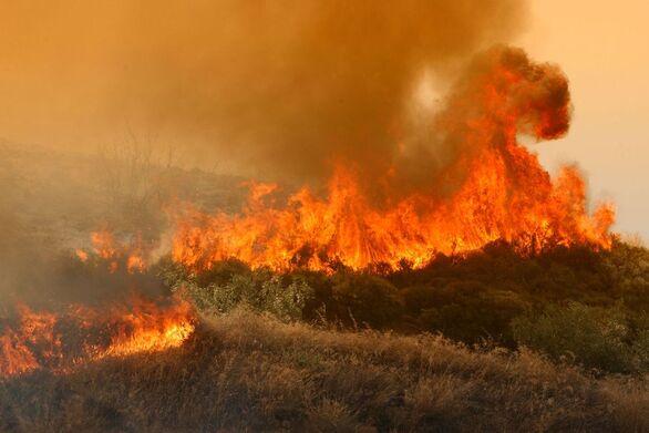 Μεγάλη πυρκαγιά στην Πρέβεζα, επιχειρούν 50 πυροσβέστες