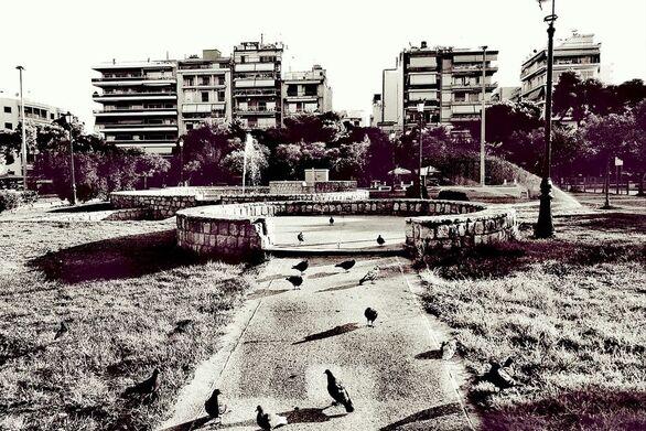 Μια πρωινή βόλτα στην πλατεία Υψηλών Αλωνίων της Πάτρας
