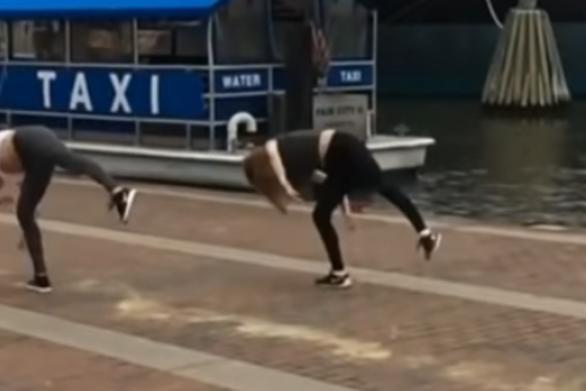 Εντυπωσιακές και κωμικοτραγικές χορευτικές κινήσεις (video)