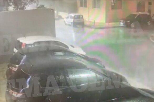 Η στιγμή που η καταιγίδα χτυπάει το Νέο Ηράκλειο (video)