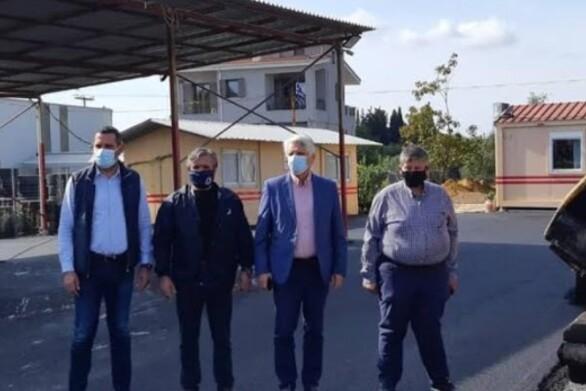 Ο Δήμος Δυτικής Αχαΐας για την ασφαλτόστρωση του χώρου των εγκαταστάσεων της πολιτικής προστασίας