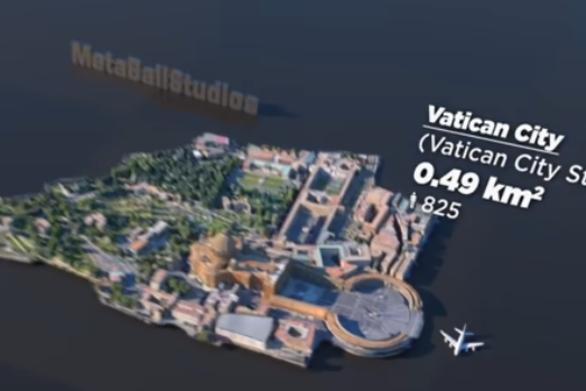 Πόλεις του κόσμου σε μια ενδιαφέρουσα 3D σύγκριση μεγέθους (video)