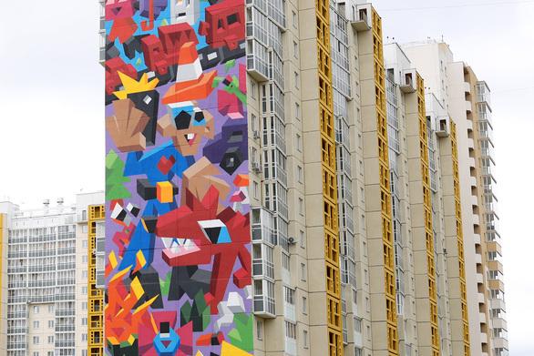 «Αγάπη για τη Φύση», μια γιγαντιαία τοιχογραφία του Βιτάλι Τσαρένκοφ (pic)