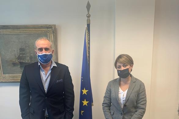 Πάτρα: Στα γραφεία του ΟΛΠΑ η βουλευτής Χρ. Αλεξοπούλου