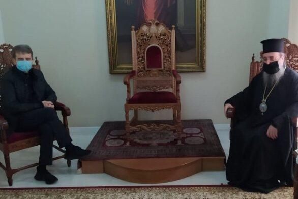 Πάτρα: Με τον Μητροπολίτη Χρυσόστομο συναντήθηκε ο Χρυσοχοΐδης ενόψει της γιορτής του Αγίου Ανδρέα
