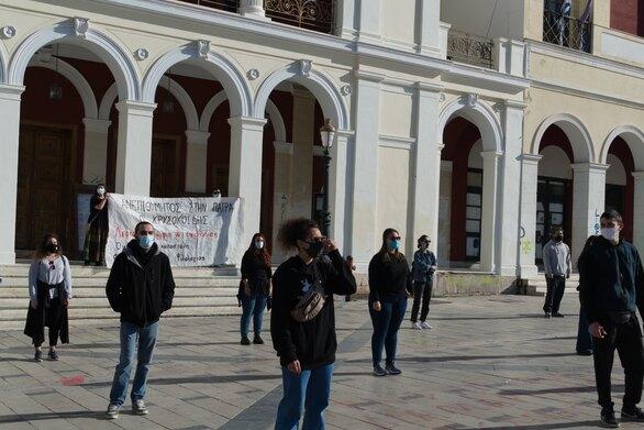 Συγκέντρωση του Φοιτητικού Συλλόγου Φιλολογίας Πάτρας για την συνάντηση Χρυσοχοΐδη με τοπικούς φορείς