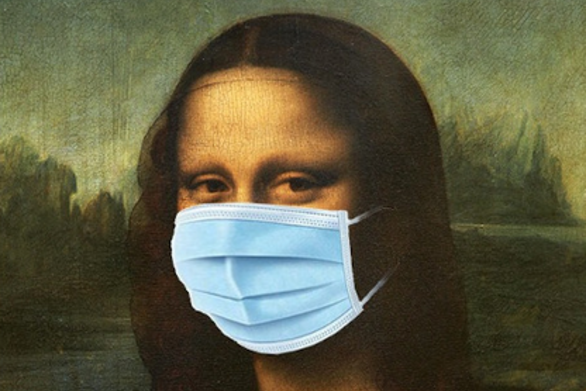 Ο Αρκάς φόρεσε μάσκα στην Μόνα Λίζα