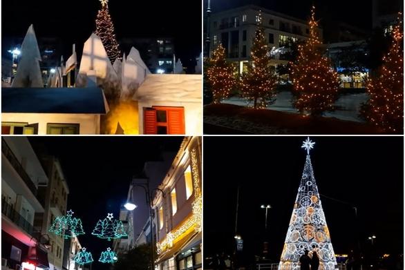 Χριστούγεννα στην Πάτρα - Εν μέσω καραντίνας η λάμψη δεν χάνεται (video)