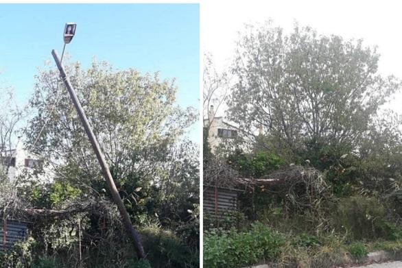 Πάτρα: Η κολώνα της ΔΕΗ που είχε γίνει επικίνδυνη για πεζούς και οδηγούς