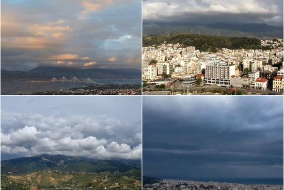 """Όταν τα σύννεφα """"χορεύουν"""" πάνω από την Πάτρα (video)"""