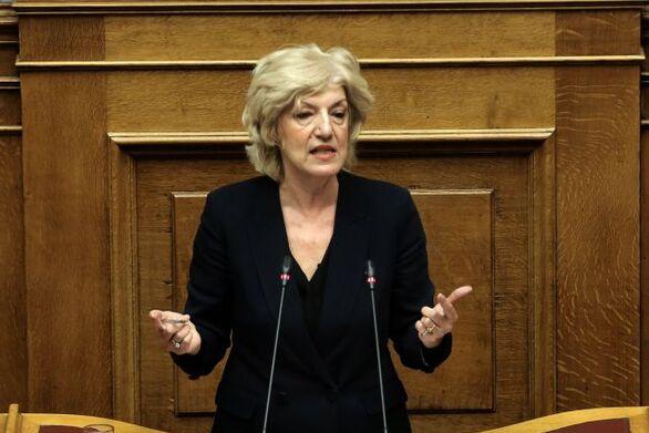H Σία Αναγνωστοπούλου στη συζήτηση του νομοσχεδίου του υπουργείου Εξωτερικών