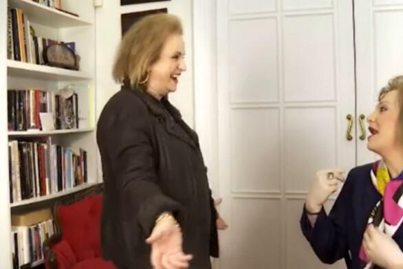 Όταν η Ματίνα Παγώνη συνάντησε τον Πατρινό Τάκη Ζαχαράτο - Έκαναν «high five» (video)