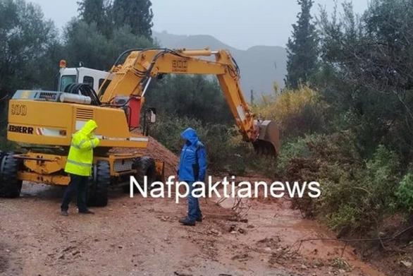 Δυτική Ελλάδα: Προβλήματα από την κακοκαιρία στη Ναύπακτο (φωτο+video)