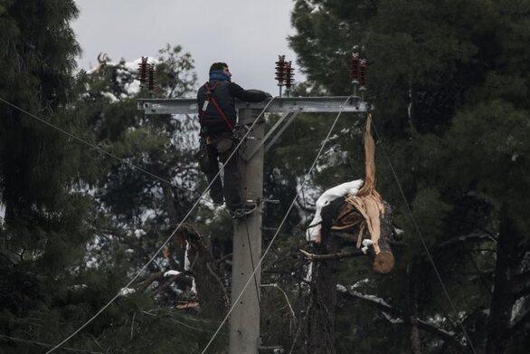 Κακοκαιρία «Μήδεια»: Λιγότερα από 400 τα νοικοκυριά με προβλήματα ηλεκτροδότησης