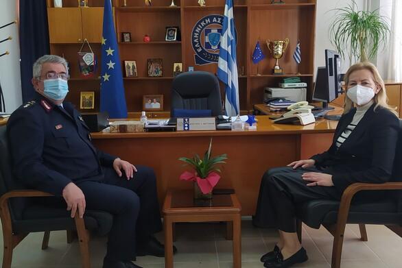 Δυτ. Ελλάδα: Εθιμοτυπική επίσκεψη της Περιφερειακής Συντονίστριας Πολιτικής Προστασίας στη Γενική Περιφερειακή Αστυνομική Διεύθυνση
