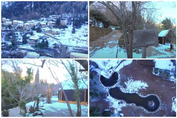 Αχαΐα - Στα λευκά το Σινεβρό και το θεματικό του πάρκο (video)