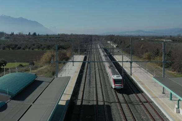 Λευκό Βέλος - Το γρηγορότερο τρένο της Ελλάδας από ψηλά (video)