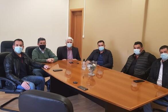Σύσκεψη Αλεξόπουλου - Μυλωνά και δημοτικών παραγόντων στην έδρα του ΣΥ.ΔΙ. Σ.Α. Αχαΐας