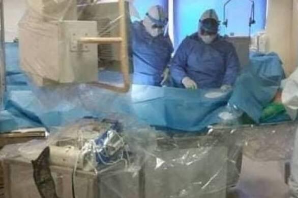 ΠΓΝΠ - Πραγματοποιήθηκε η πρώτη αγγειοπλαστική σε ασθενή με κορωνοϊό