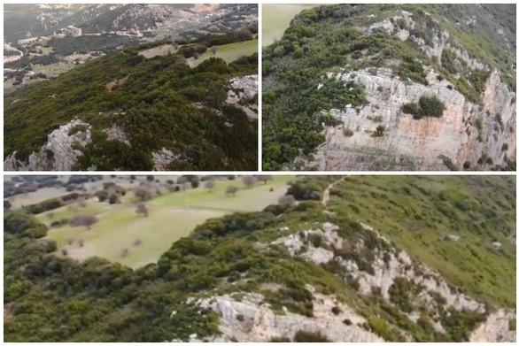 Αχαΐα - Πτήση με drone πάνω από τον Τρανό Βράχο στο Πουρναρόκαστρο (video)