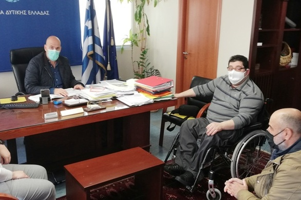 Π.ΟΜ.Α.μεΑ Δ.Ε. & Ν.Ι.Ν.: Συνάντηση με τον Αντιπεριφερειάρχη Π.Ε. Αχαΐας, Χ. Μπονάνο