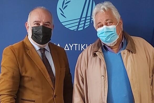 Συνάντηση τουΑντιπεριφερειάρχη Παναγιώτη Σακελλαρόπουλου με τον πρόεδρο του Αρδευτικού Συνεταιρισμού ΤΟΕΒ Κραθίου