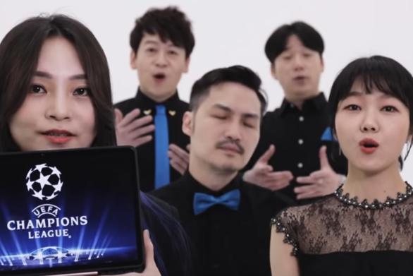 Νοτιοκορεάτικο συγκρότημα τραγουδά τον ύμνο του Champions League (video)