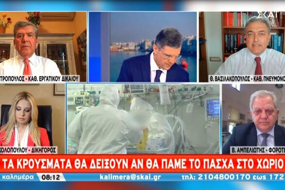 """Βασιλακόπουλος: """"Αν δεν πάμε στα χωριά το Πάσχα, θα αυξηθούν τα κρούσματα"""" (video)"""