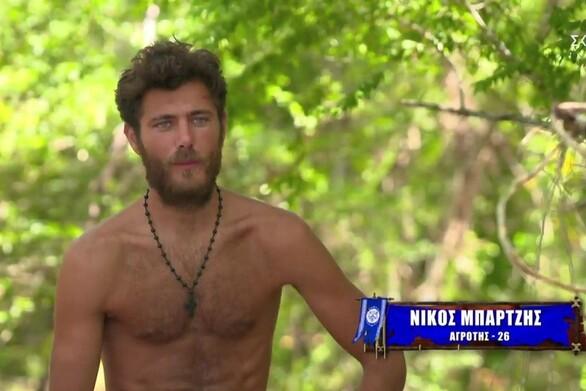 Survivor: Συγκινημένος ο Νίκος Μπάρτζης αποχαιρέτησε τους συμπαίκτες του (video)