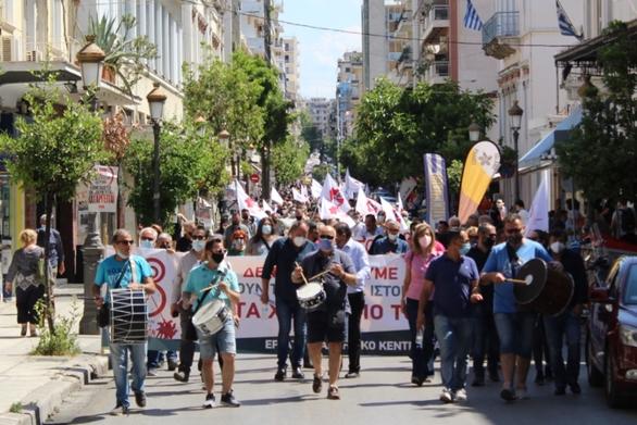 Πάτρα: Μαζική συμμετοχή στην κινητοποίηση του Εργατικού Κέντρου για το εργασιακό νομοσχέδιο (φωτο)