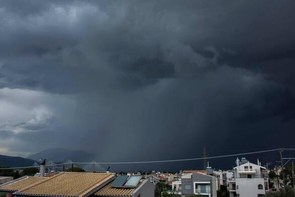Στο Ρίο της Πάτρας ξαφνικά μαύρισε ο ουρανός (φωτο)