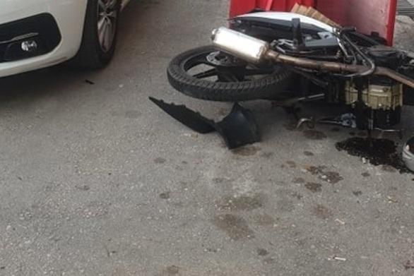Πάτρα: Ντιλιβεράς τραυματίστηκε σε τροχαίο σε συμβολή «καρμανιόλα»