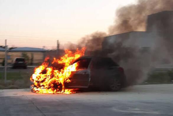 """Πάτρα: Φωτιά σε αμάξι στο τούνελ της Περιμετρικής  - """"Ουρές"""" από Ι.Χ."""