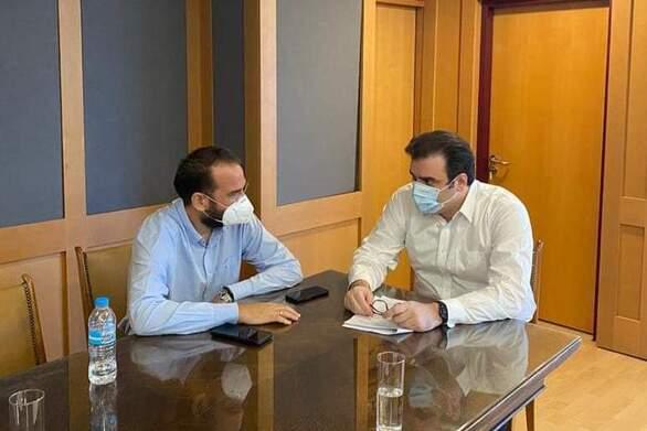 Συνάντηση του Περιφερειάρχη Ν. Φαρμάκη με τον Υπουργό Κ. Πιερρακάκη για τη νέα ψηφιακή εποχή της Δυτικής Ελλάδας